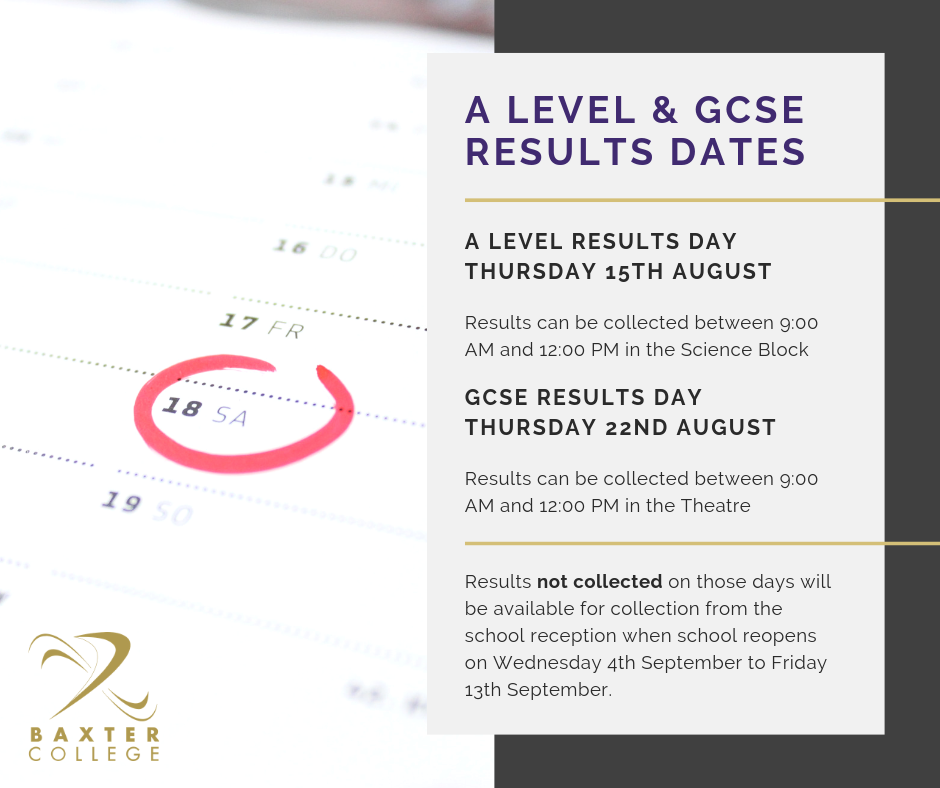 A Level & GCSE Results Day Information