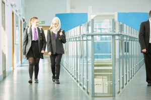 Baxter College_Science Block_Pupils walking_10